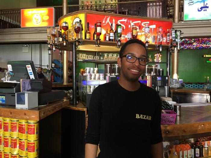 Joël, medewerker bij Bazar Amsterdam